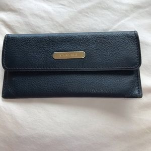 Michael Kors Navy Blue Flat Wallet